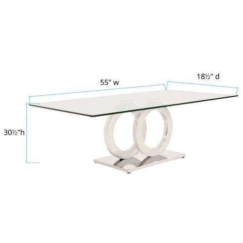 Howard Elliott - Stainless Steel Coffee Table with Circular Base