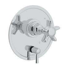 San Giovanni Pressure Balance Trim with Diverter - Polished Chrome with Five Spoke Cross Handle