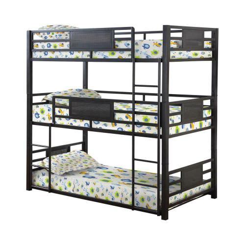 Coaster - Casual Black Full Triple Bunk Bed