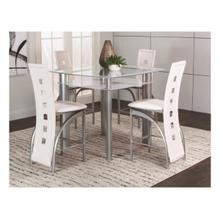 Valencia 5pc White Pub Set