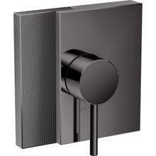See Details - Polished Black Chrome Pressure Balance Trim - Diamond Cut
