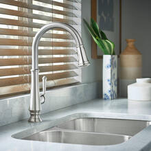 View Product - Delancey Pull-Down Kitchen Faucet  American Standard - Stainless Steel