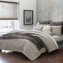 9pc Queen Comforter Set Taupe