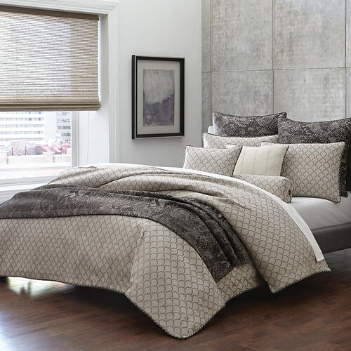 9pc Queen Comforter Set Taupe