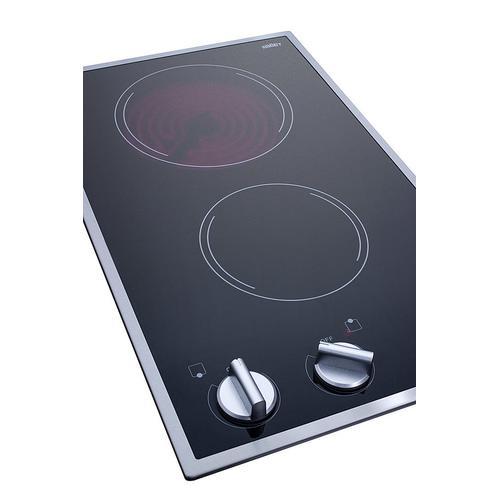"""12"""" Wide 115v 2-burner Radiant Cooktop"""