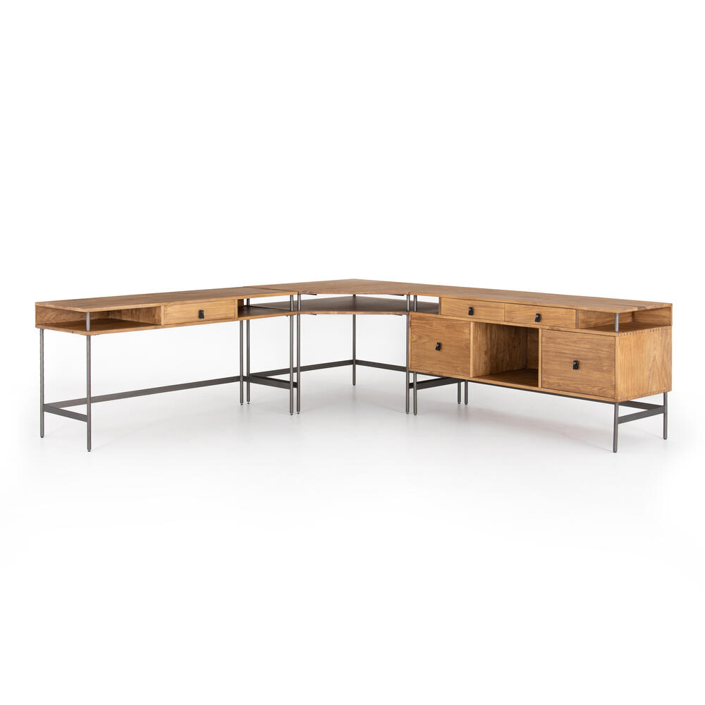 With Filing Credenza Configuration Joaquin Desk System
