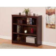 See Details - Harvard 36in Book Shelf in Walnut