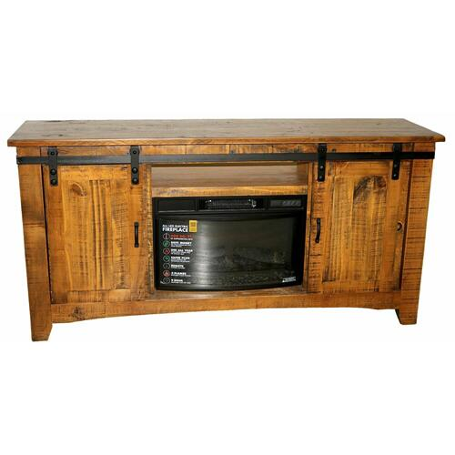 "Million Dollar Rustic - 70"" Tobacco Barn Door Tv/fireplace"