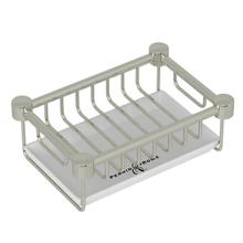 Holborn Free Standing Porcelain Soap Basket - Polished Nickel