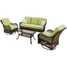 Orleans 4 Pc. Seating Set - Sofa, Two Rocking Chairs, and a 26 x 43 in. Coffee Table