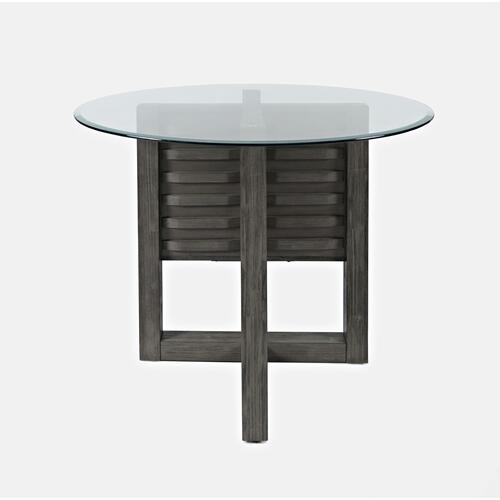 Altamonte Round Counter Table - Brushed Grey