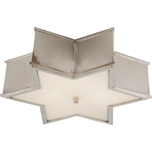 Visual Comfort - Alexa Hampton Sophia 3 Light 17 inch Polished Nickel Flush Mount Ceiling Light