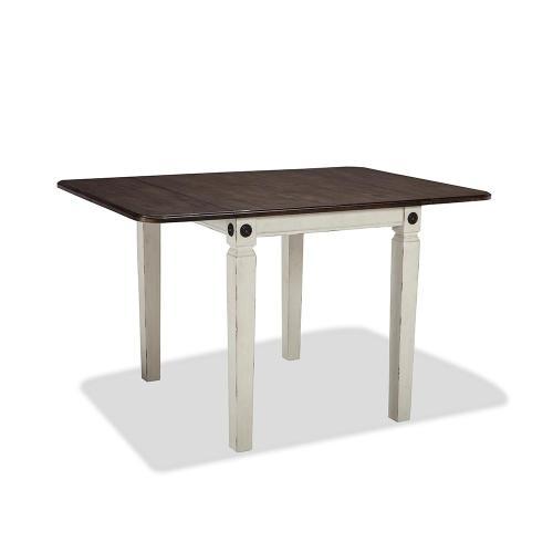 Intercon Furniture - Glennwood Drop Leaf Table  White & Charcoal