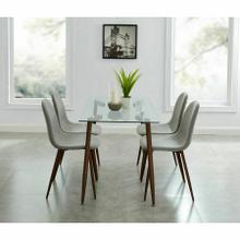 See Details - Abbot/Lyna 5pc Dining Set, Walnut/Grey