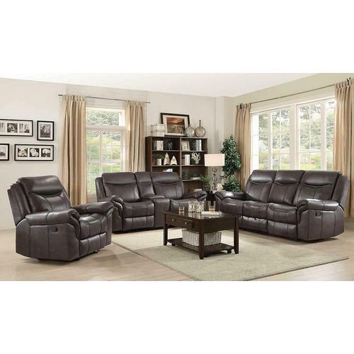 Sawyer Transitional Brown Motion Sofa