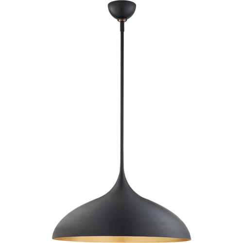 AERIN Agnes 1 Light 21 inch Matte Black Pendant Ceiling Light, Large