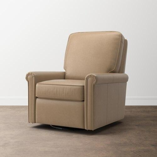 Thompson Leather Swivel Glider