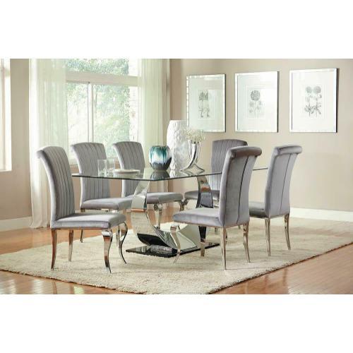 Coaster - Hollywood Glam Chrome Dining Chair