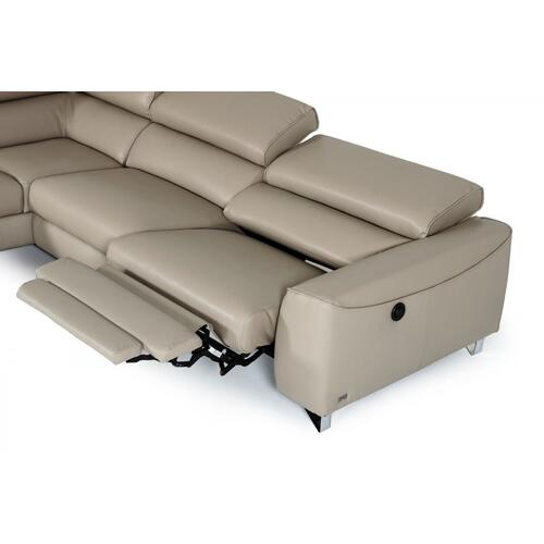 VIG Furniture - Divani Casa Versa - Modern Light Taupe Teco-Leather Left Facing Sectional Sofa with Recliner