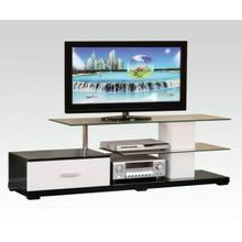ACME Ivana TV Stand - 91140_KIT - White & Black