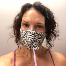 Product Image - Happy Hour Reusable Face Mask in Cheetah Charcoal