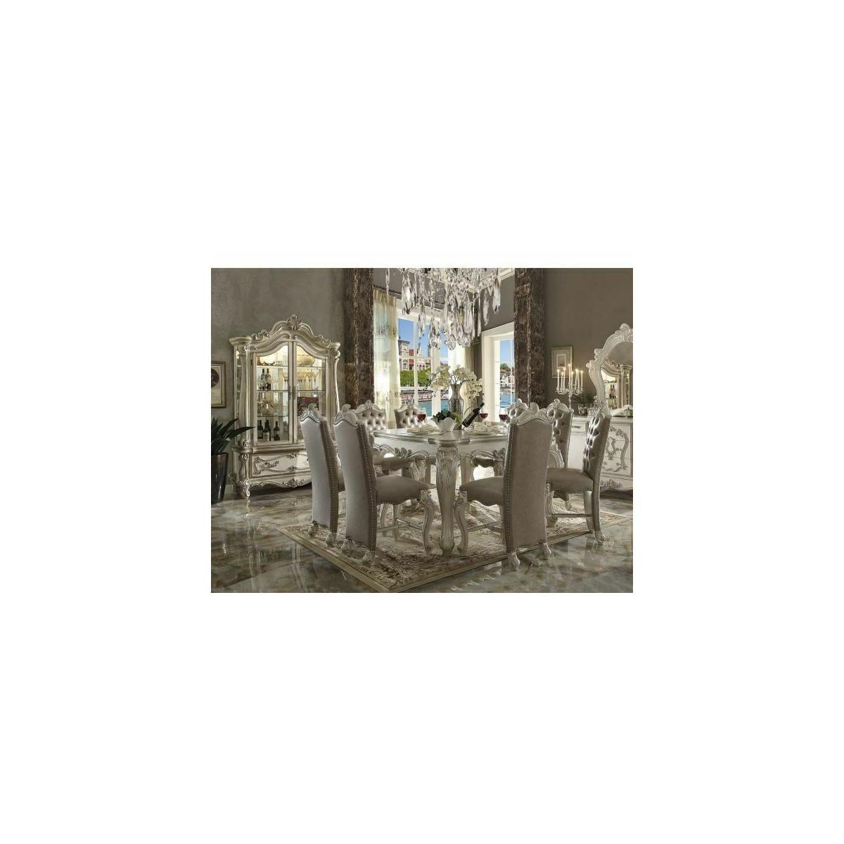 ACME Versailles Counter Height Table - 61150 - Bone White