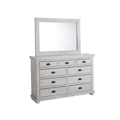 Dresser \u0026 Mirror - Gray Chalk Finish