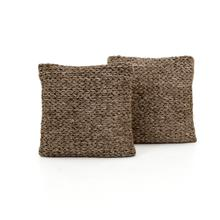 """20x20"""" Size Stone Braided Pillow, Set of 2"""