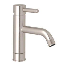 Campo Single Hole Single Industrial Metal Lever Bathroom Faucet - Satin Nickel with Industrial Metal Lever Handle