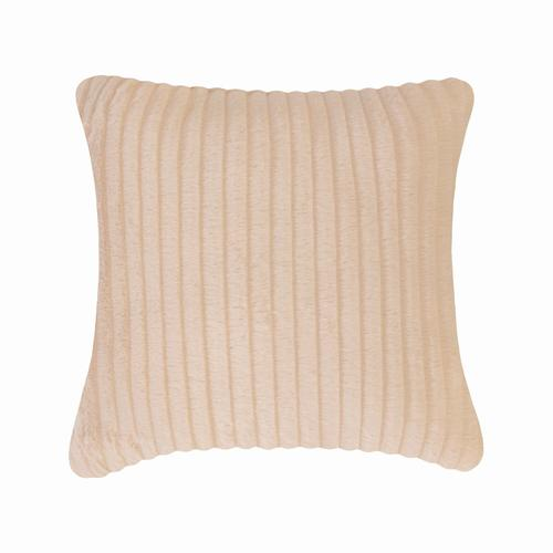 Fun Fur Stripe Cushion - Peach