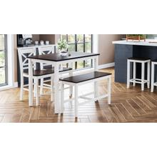Asbury Park 4 Pack - Table, (2) Stools, Bench