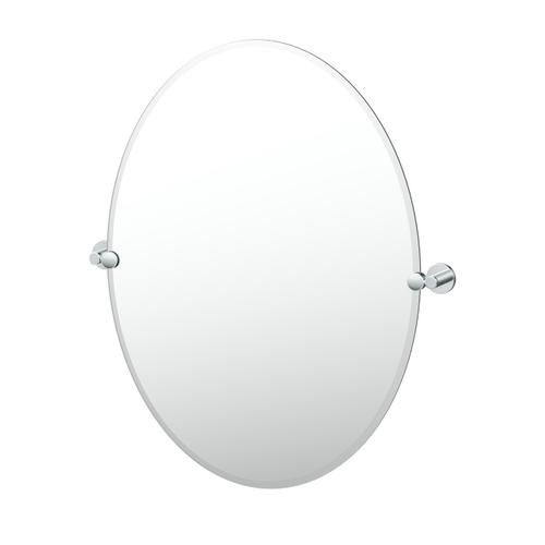 Reveal Oval Mirror in Chrome