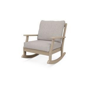 Polywood Furnishings - Braxton Deep Seating Rocking Chair in Vintage Sahara / Weathered Tweed