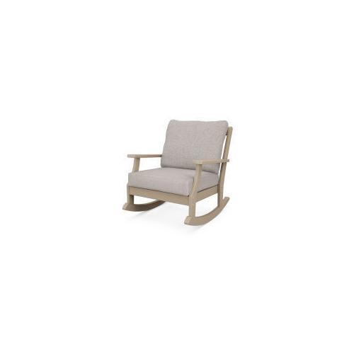 Braxton Deep Seating Rocking Chair in Vintage Sahara / Weathered Tweed