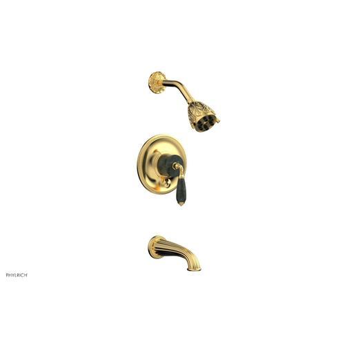 VALENCIA Pressure Balance Tub and Shower Set PB2338F - Satin Gold