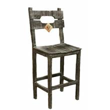 See Details - 30in Ws Barn Wood Bar Stool
