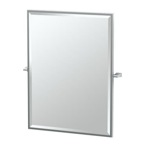 Bleu Framed Rectangle Mirror in Chrome