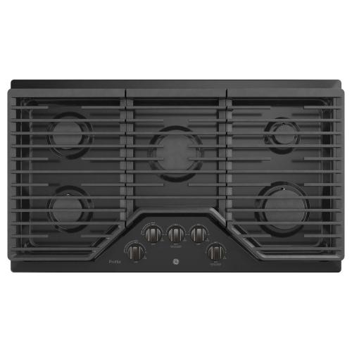 "GE Profile™ 36"" Built-In Gas Cooktop with Optional Extra-Large Cast Iron Griddle"