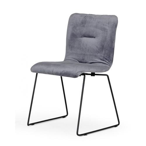 VIG Furniture - Modrest Yannis - Modern Grey Fabric Dining Chair (Set of 2)