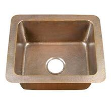 "Reece 21"" Single Bowl Copper Drop-In Kitchen Sink"
