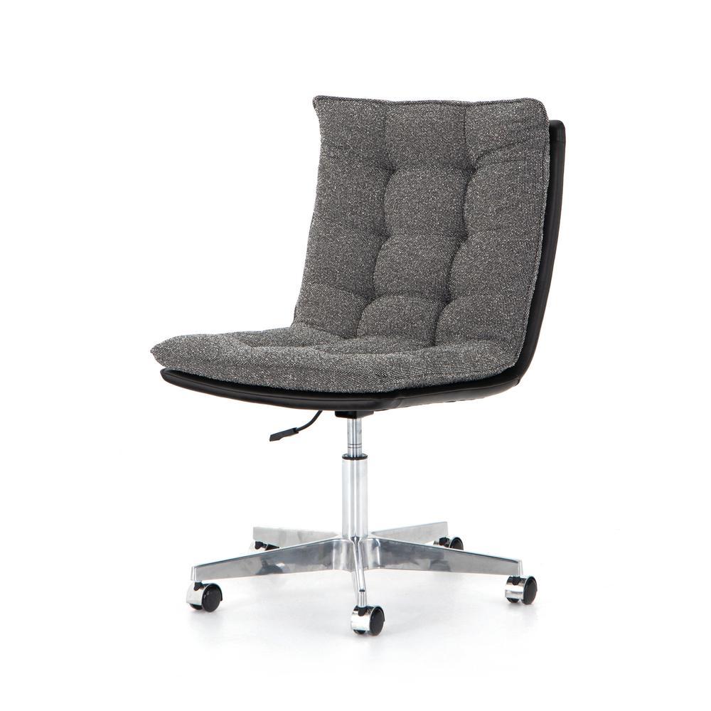 Distressed Black Cover Quinn Desk Chair