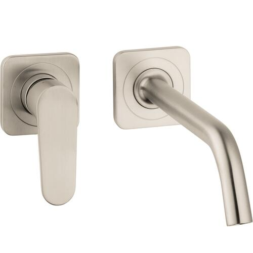 Brushed Nickel Wall-Mounted Single-Handle Faucet Trim, 1.2 GPM
