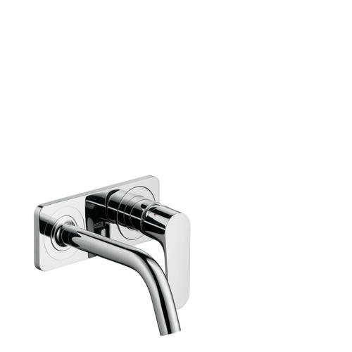 Polished Red Gold Single lever basin mixer for concealed installation wall-mounted with spout 167 mm and plate