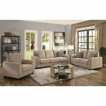 ACME Catherine Loveseat w/2 Pillows - 52296 - Khaki Fabric