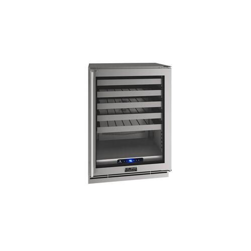"24"" Wine Refrigerator With Stainless Frame Finish (115 V/60 Hz Volts /60 Hz Hz)"