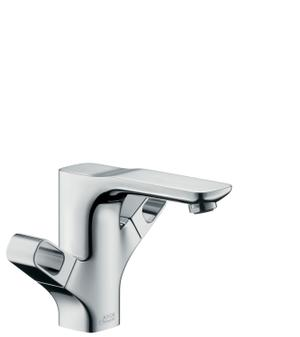Chrome 2-handle basin mixer 120 with pop-up waste set Product Image
