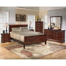 B376 7PC SET: Twin Sleigh Bed, Dresser, Mirror, Chest, Nightstand (Alisdair)