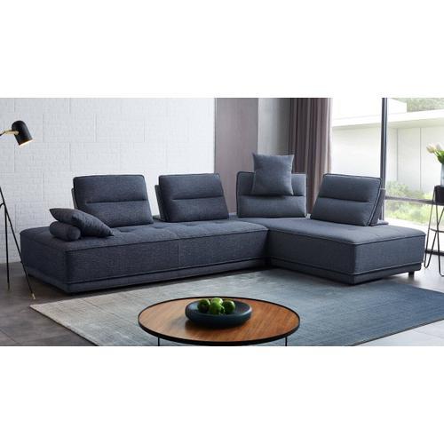 VIG Furniture - Divani Casa Glendale - Modern Blue Fabric Modular Sectional Sofa