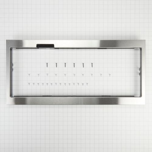 Whirlpool - Built-In Low Profile Microwave Slim Trim Kit with Pocket Handle, Stainless Steel