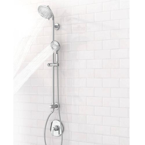 """American Standard - Spectra Versa Shower System with 4-Spray Shower Head and Hand Shower - 36"""" Slide Bar  American Standard - Polished Chrome"""